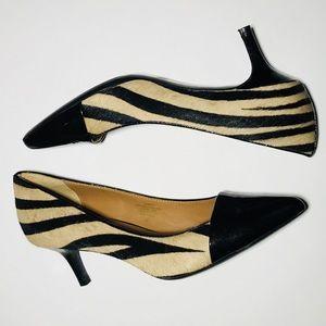 Isaac Mizrahi NY 'Jabria' kitten heel pump zebra